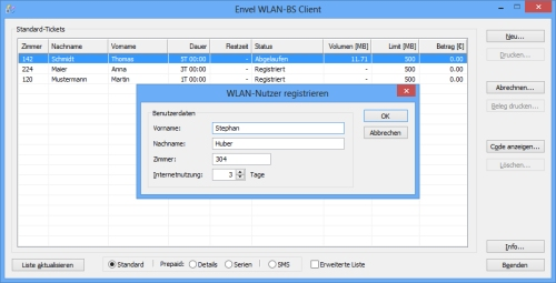 Envel WLAN-BS Client-Software